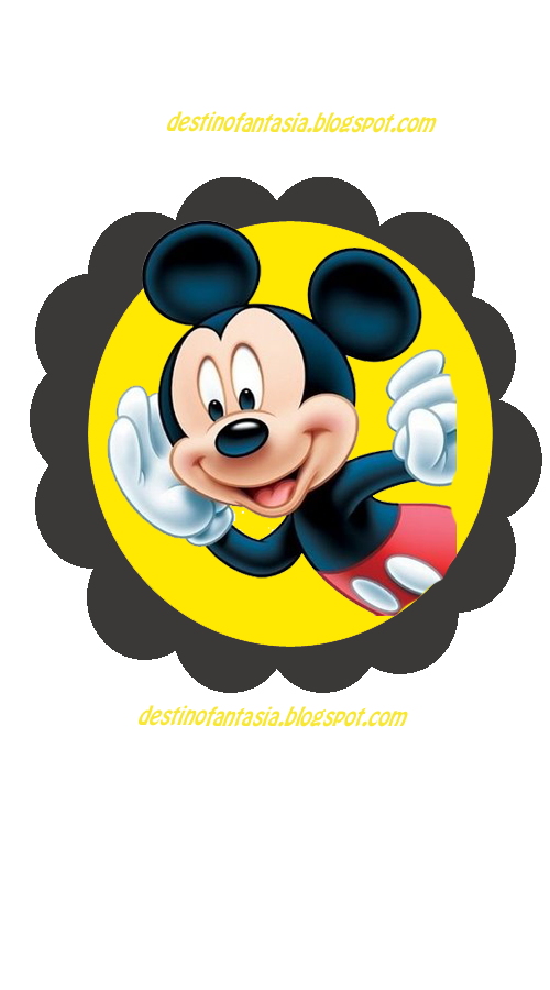 Toppers para cupcake Mickey