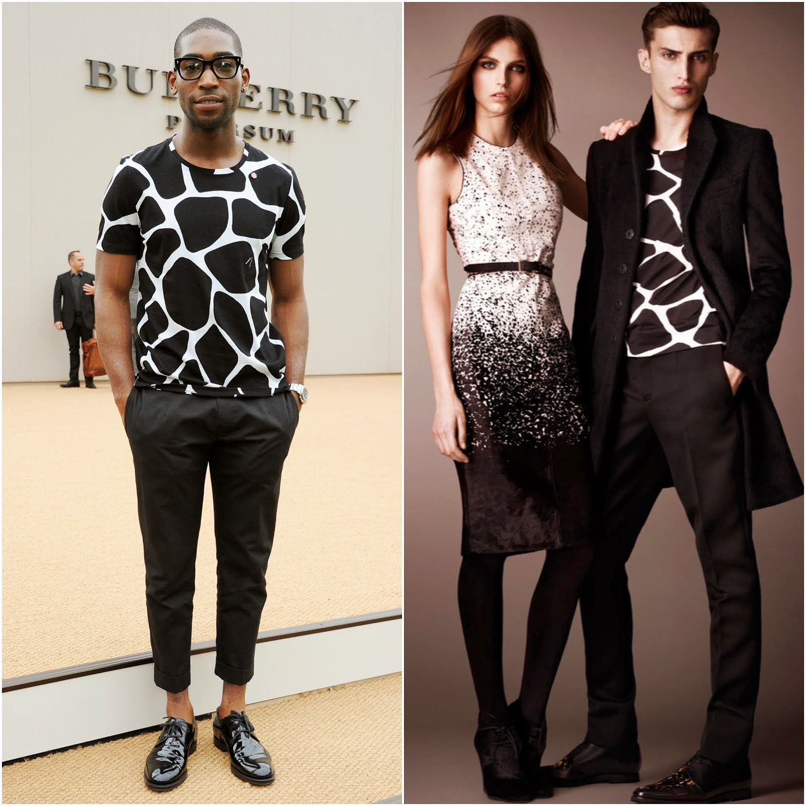 00O00 Menswear Blog: Tinie Tempah in Burberry Prorsum - Burberry Prorsum Menswear SS14 Show, London