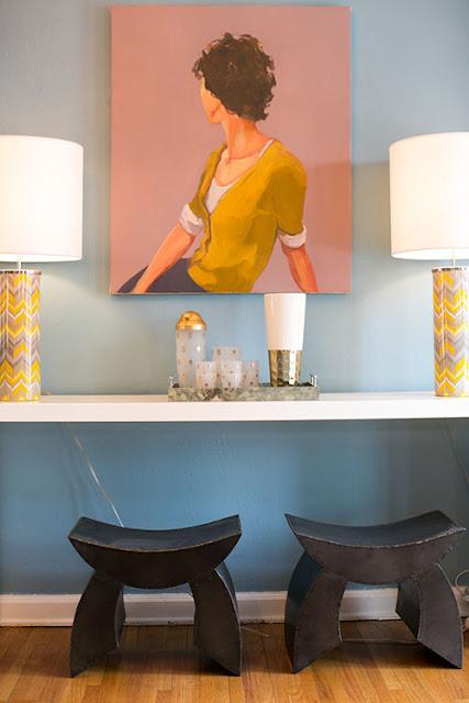 Charmante Farbtupfer als heiteres Design in der Einrichtung