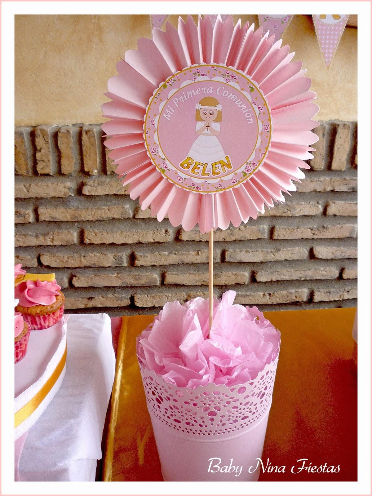Baby nina fiestas comuni n de bel n - Centros de mesa comunion ...