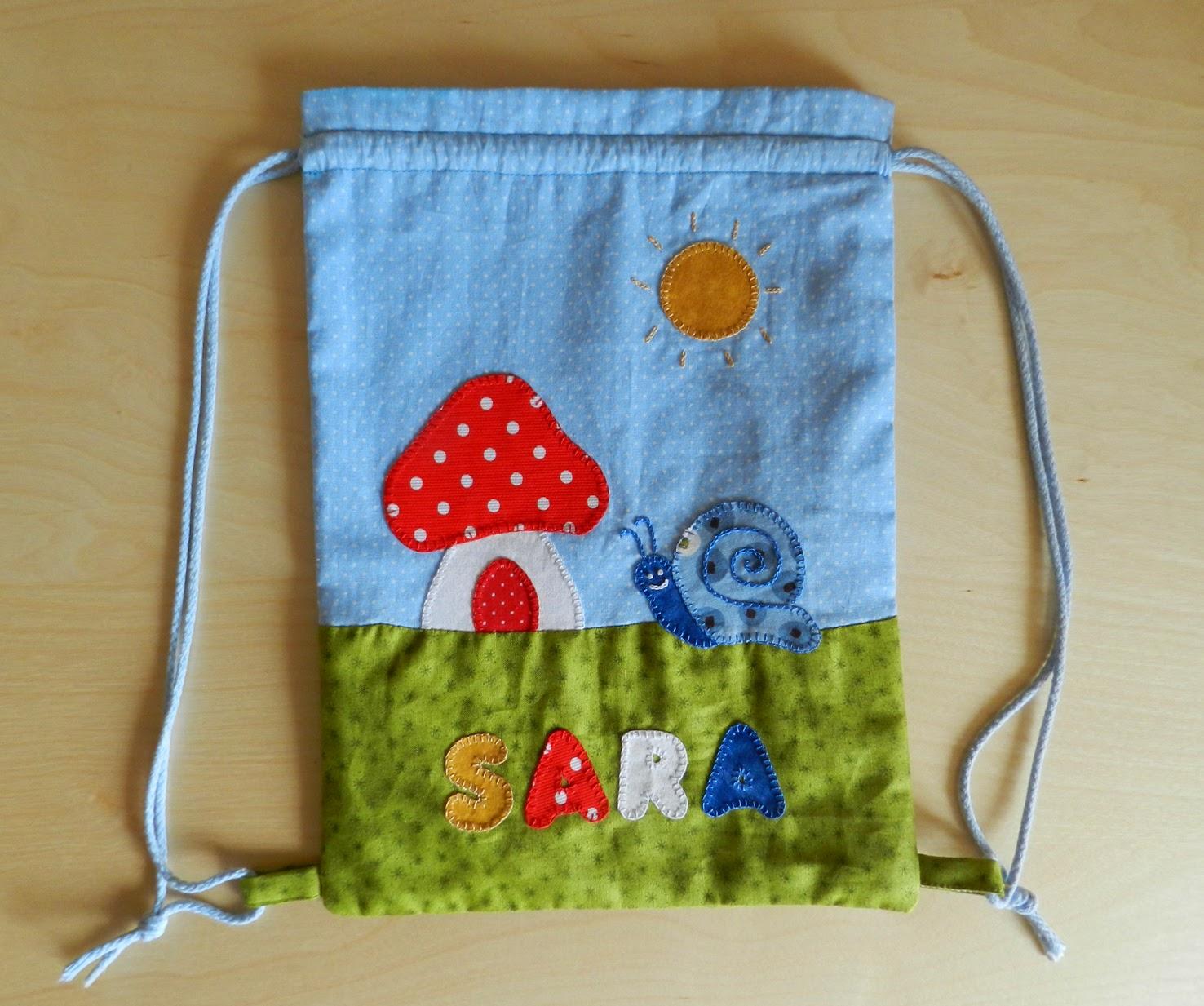 Mochila patchwork, patchwork, bolsa de merienda, bolsa para la merienda, mochila para niños
