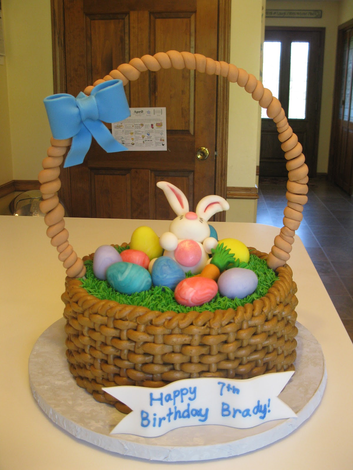 Simply sweet easter basket cake easter basket cake negle Gallery