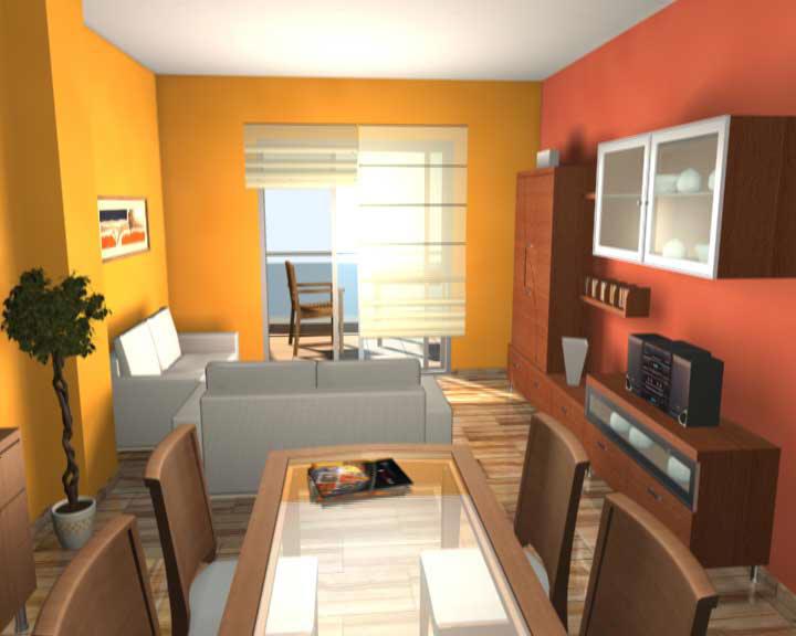 Mundo de colores psicoloricamente hablando - Combinar color naranja paredes ...