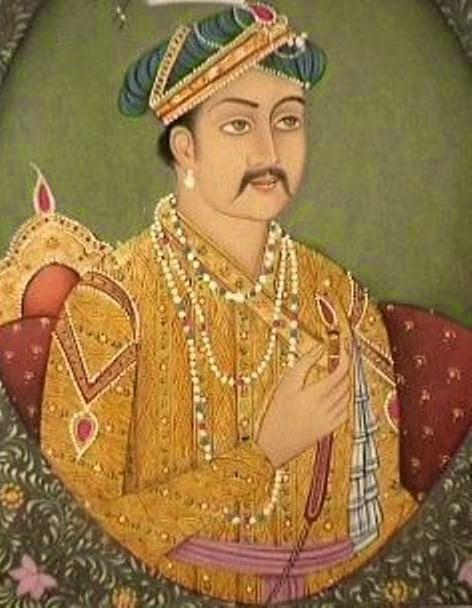 portrait of king akbar