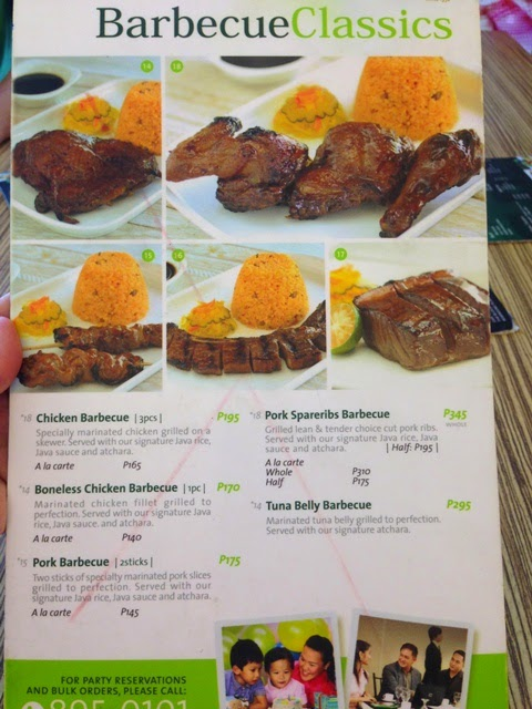 ARISTOCRAT MENU, BARBECUE CLASSICS,