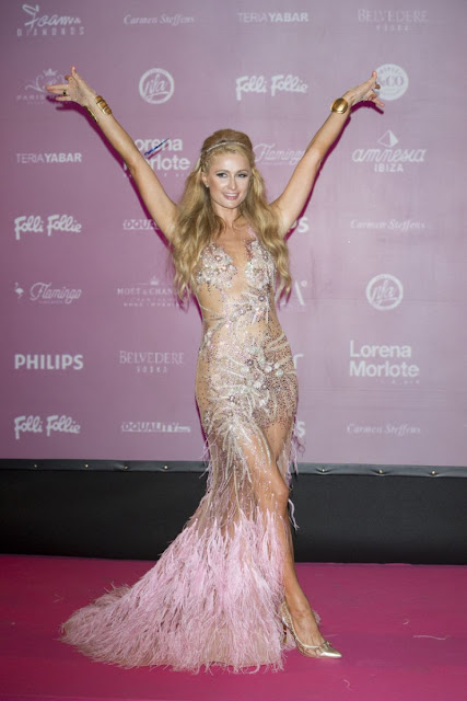 Actress, Model @ Paris Hilton Opening Foam And Diamonds Event At Amnesia In Ibiza