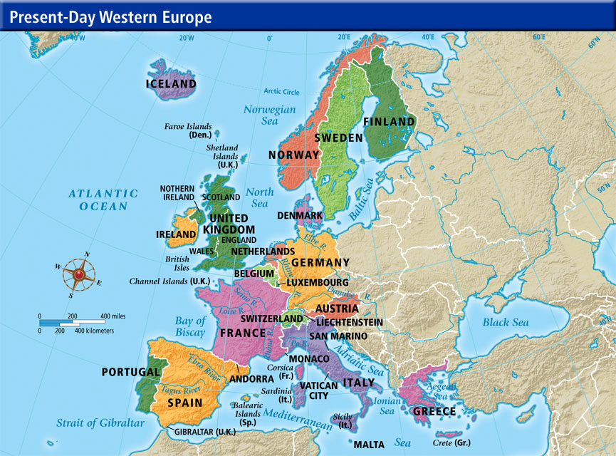 Map Of Europe Countrie...