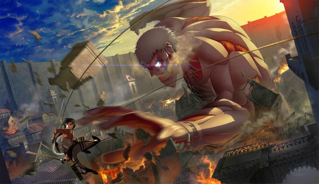 Shingeki-no-Kyojin-Mikasa-vs-Armored-Titan-Wallpaper-1024x592