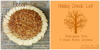 Pecan Pie and Thanksgiving Week Check List