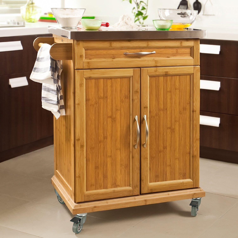 8 muebles auxiliares de cocina que te har n m s f cil la - Muebles de cocina auxiliares ...