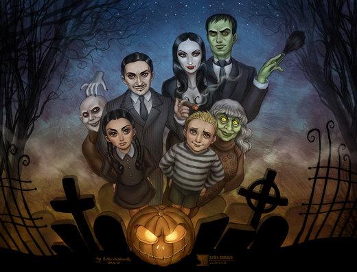 The Addams Family por daekazu