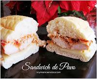 sandwiches de pavo
