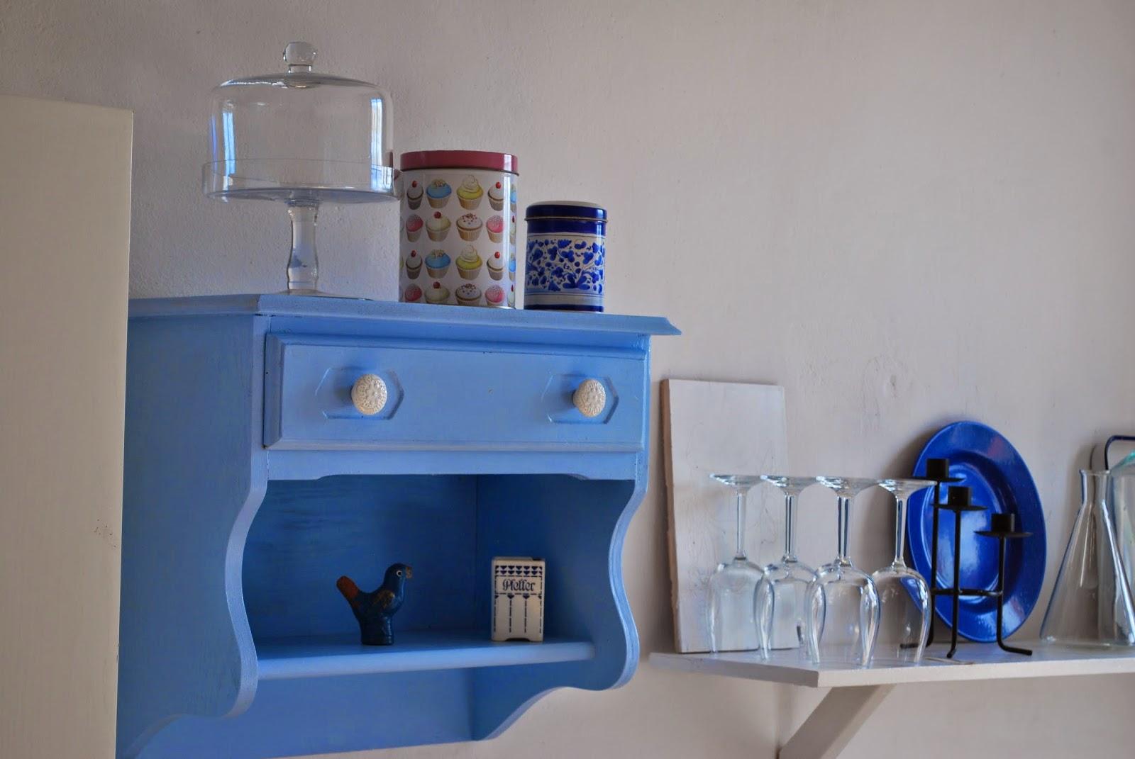 DZIAŁ KADRów domowych - błękitna półeczka