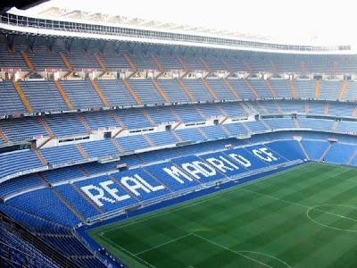 estadio Santiago Bernabéu por dentro