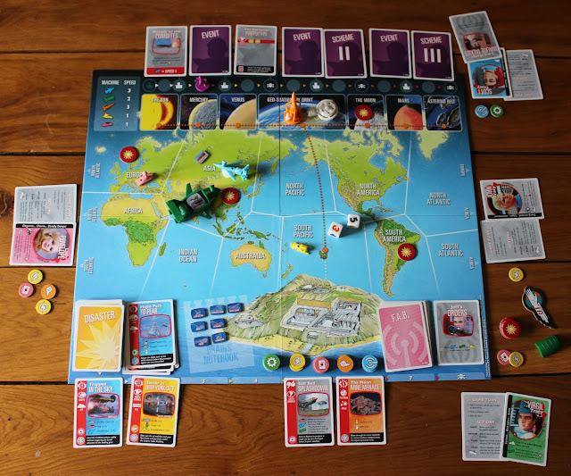 Thunderbirds Co-operative board game review - mid-game picture