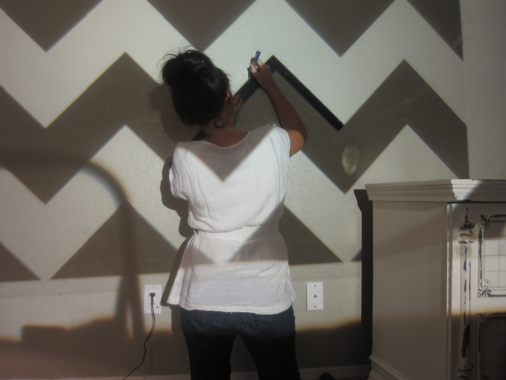 How To Paint A Chevron Wall Tutorial Classy Clutter Best How To Paint A Chevron Pattern
