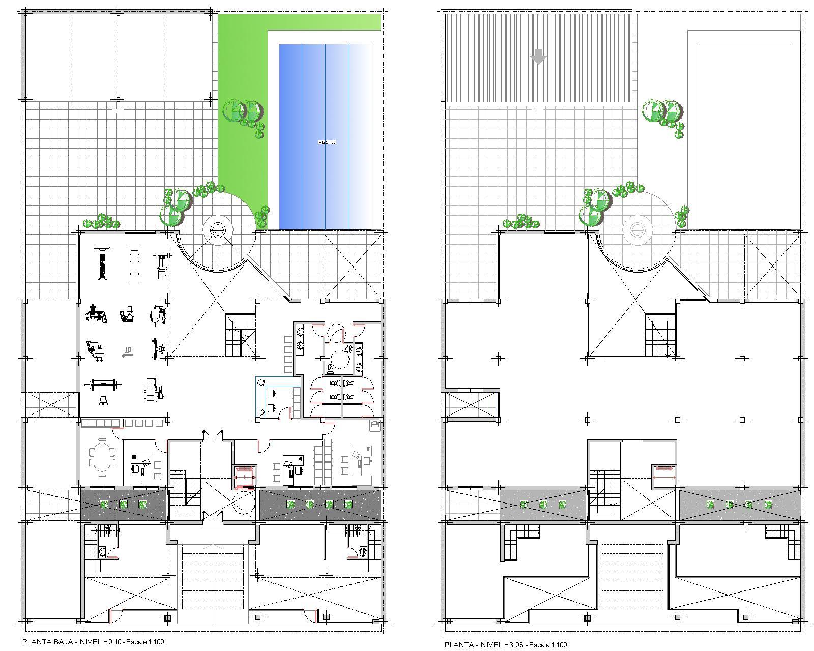 Arquitecta miriam di leo edificio de departamentos y for Edificios educativos arquitectura