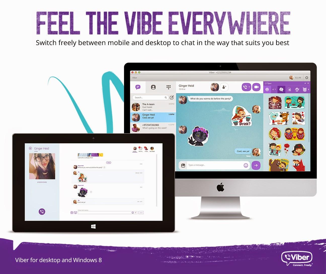 Viber updates desktop apps