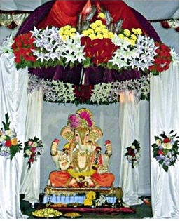 Flowers Decoration for Ganpati Festival