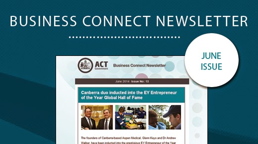 Screenshot of Business Connect Newsletter