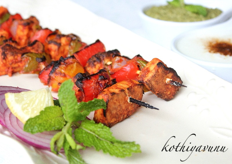 how to cook paneer cheese grill