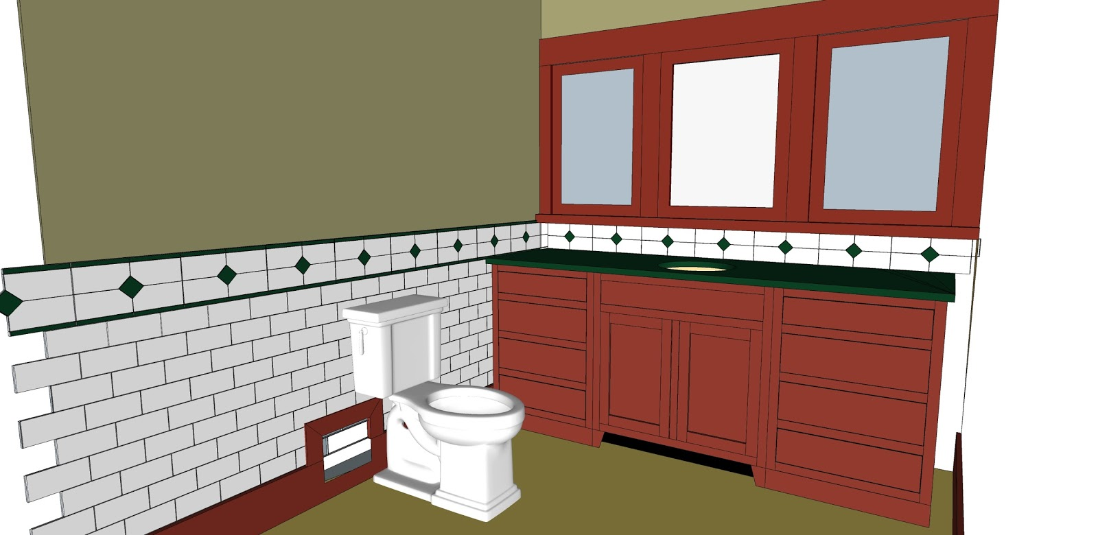 Laurelhurst craftsman bungalow struggling with sketchup for Sketchup bathroom sink