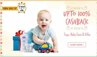 Toys, Baby Care & Gifts 100% Cashback