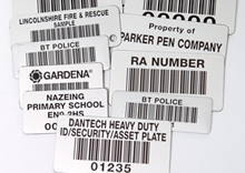 Heavy Duty Aluminium Plate Labels