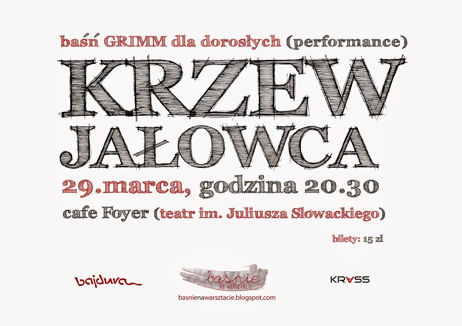 Krzew jałowca, Cafe foyer, Baśnie na Warsztacie, Mateusz Świstak, bajdura, KRass, Baśń Braci Grimm
