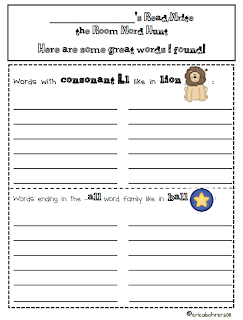 Printables Write The Room Worksheet readwrite the room worksheets ericas ed ventures they then record words on like one pictured below which is included in my 86 center recording sheets pa