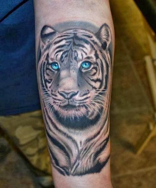 Tiger Stripes Tattoo Nice Tattoo Work of Tiger on