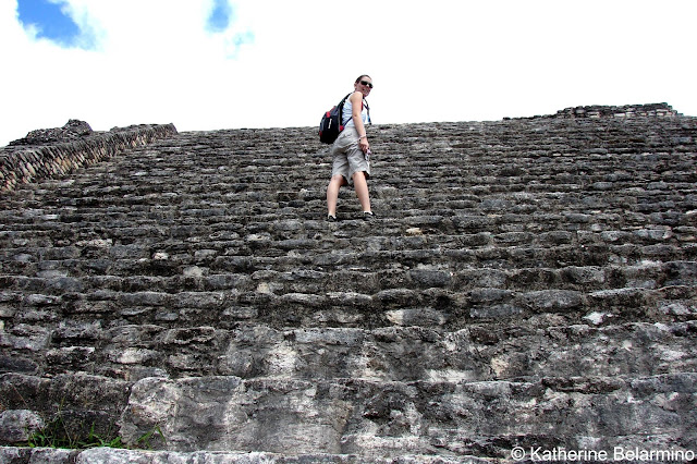 Steps up the Caracol Mayan Ruins, Belize