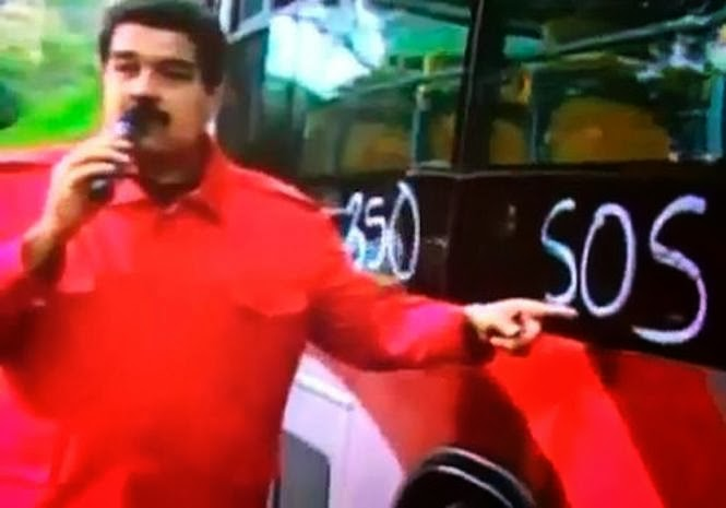 Nicolás Maduro confunde la sigla S.O.S