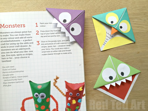 How To Make A Corner Bookmark : My owl barn diy easy corner bookmarks