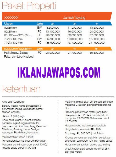 Jawa Pos Iklan Paket Properti 2014