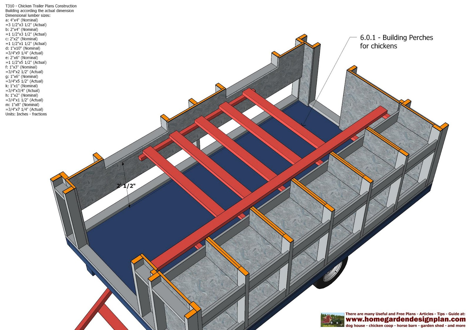 instructions on how to build the folding trailer floor