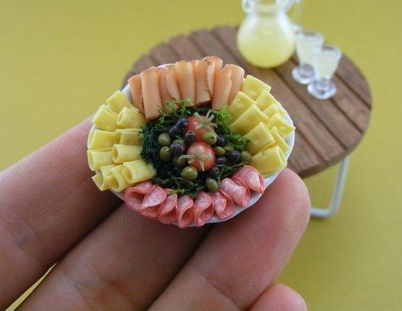Shay Aaron,miniature food,food sculptures