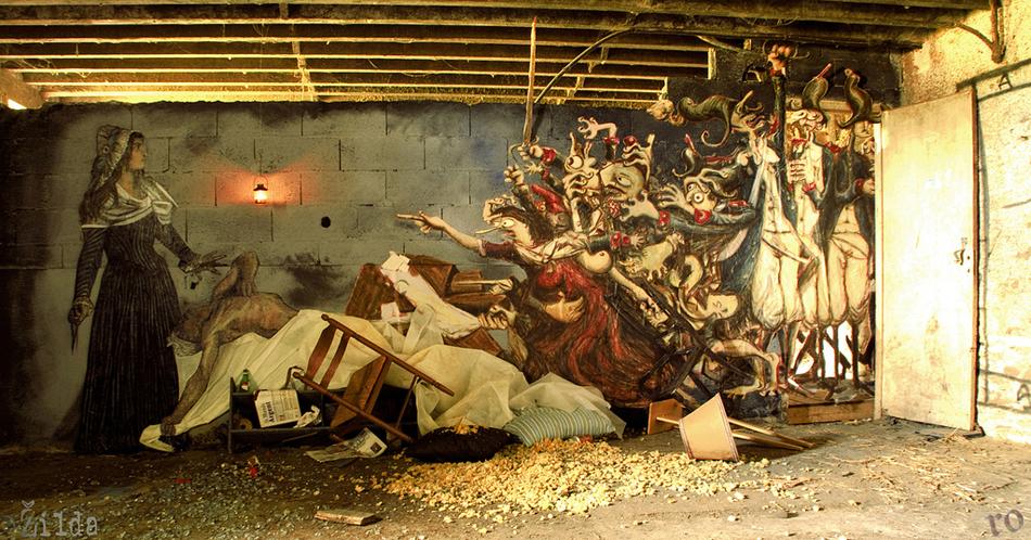 Zilda, Ro, street art, Rennes