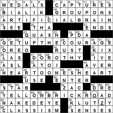 Web s new york times crossword solution nytcrossword com 0819 14