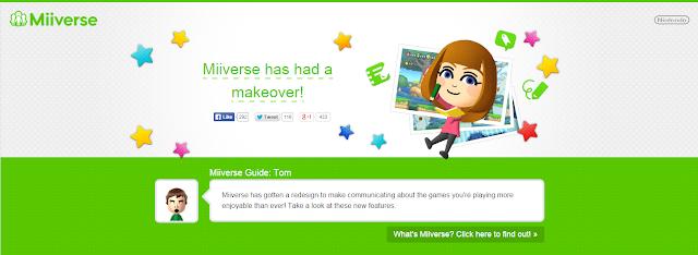 Nova versão do Miiverse já está no ar