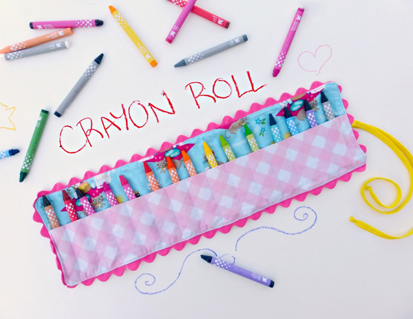 DIY Crayon Roll Tutorial - - This is from a massive list of 16 Awesome Free Pencil Case Tutorials!