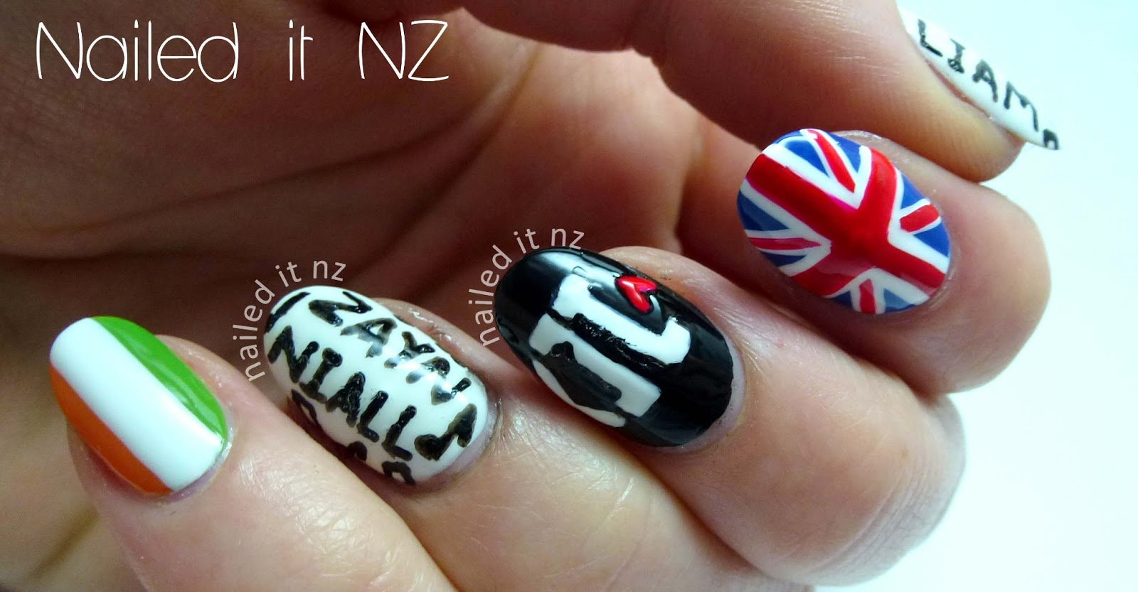 Nailed It NZ: One Direction nail art (finally!)