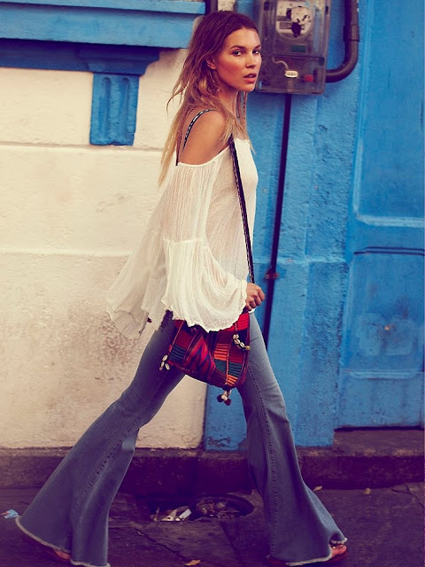 boho chic flare jeans