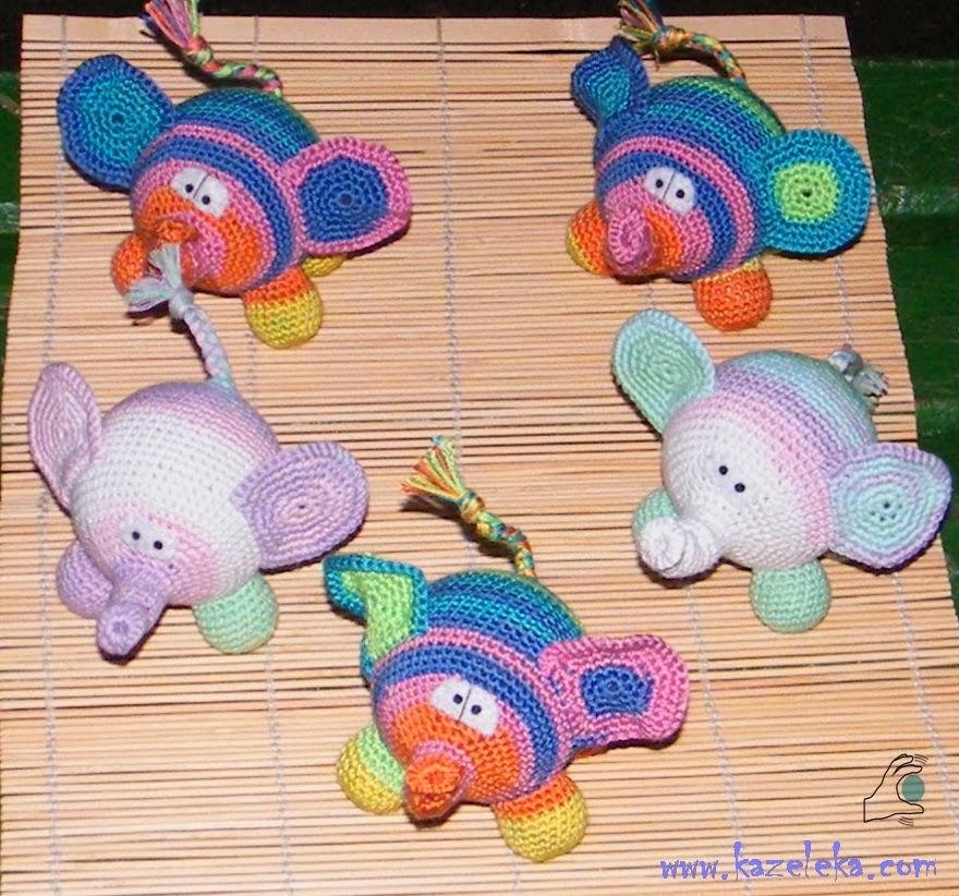вязаные слоны - amigurumi elephant