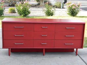 Red Retro Dresser  *SOLD*