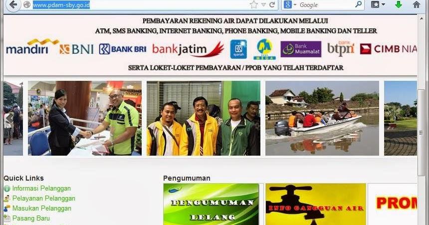 Pembayaran Rekening Pdam Surabaya Online Mulai Bulan