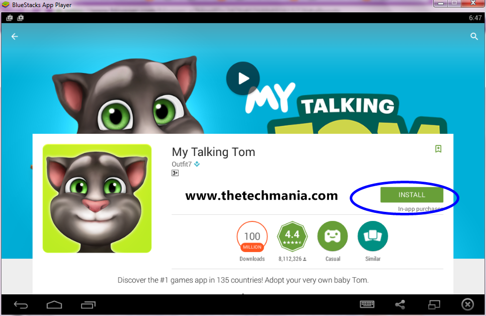 Talking Tom Cat 2 for Windows 8 and