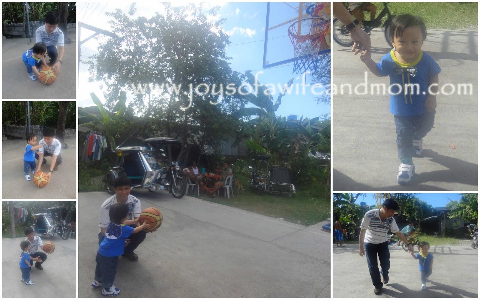 Simple Joys Photo: Tatay, Trev and Basketball