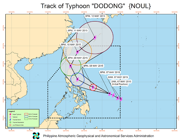 Typhoon Dodong track