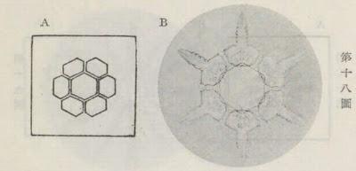 『雪華図説』の研究 模写図と顕微鏡写真と比較 第十八図